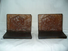 Tiffin #9349 Amber Satin Stag Book Ends