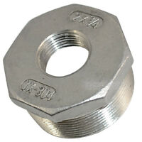 """2"""" Male x 3/4"""" female Stainless Steel threaded Reducer Bushing Pipe Fitting"""