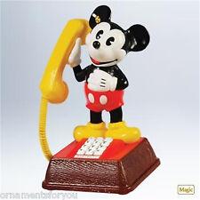 Hallmark 2011 Mickey's Talking Telephone Mickey Mouse Disney Ornament