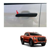 A BLACK CARBON FIBER 4 DOOR HANDLE COVER TRIM ISUZU D-MAX DMAX 2012-2018 UTE