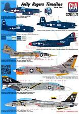CTA Decals 1/72 JOLLY ROGER TIMELINE Part 2 F8F Bearcat to F-14 Tomcat