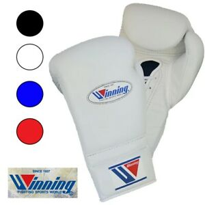 Winning MS400 boxing glove lace-up 12 oz 4-color leather Pro from Japan New F/S