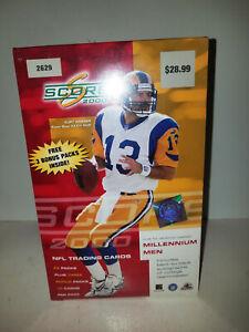 2000 Score NFL Football Factory Sealed Box - 32 Packs - Retail - Tom Brady?