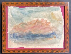 WILLIAM TURNER - ink watercolor on original paper of the 19th century- FRAMED
