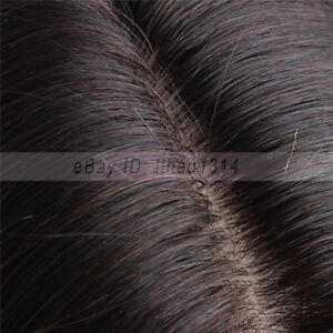 """Full Lace Wig with 4""""x4"""" Silk Top Indian Remy Human Hair 18"""" 45cm Can be Dyed"""