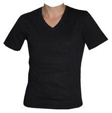 Hanes Camiseta cuello pico algodón hombre Negro Blanco V-Neck Hombres Jóvenes