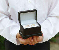 WEDDING RING BOX HOLDER BLACK CHEST PILLOW PAGE BOY BEARER BEST MAN ENGAGEMENT
