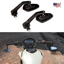 For Triumph Thunderbird / Bonneville BLACK MOTORCYCLE 7/8 HANDLE BAR END MIRRORS