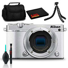 Nikon 1 J5 Mirrorless Digital Camera (White) with Tripod, Case, and 16GB Cards