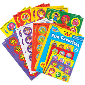 Trend Fun Favourites Scented Stickers 435 Smelly Scratch n Sniff Reward Stickers