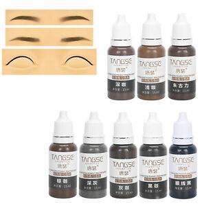 Microblading Permanent Makeup Tattoo Ink Kit Lip Eyebrow Pigment Set 15ML