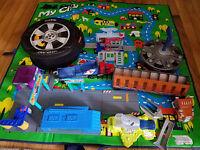 Hot Wheels Lot Zipbin, Launchers, Carrier, Take-along Service Station, Playsets