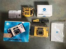 Minolta Weathermatic 35DL + Minolta Sportfinder 35mm Subacquea NUOVA