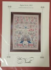With My Needle AGNES SCOTT 1810 Sampler Chart Historical Reproduction