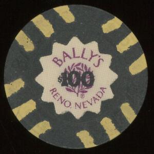 $100 BALLY'S CASINO CHIP RENO NEVADA POKER CHIP GAMBLING TOKEN