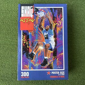 Vintage Shaq Attaq Puzzle 300 Pieces Shaquille 24X36 Poster Size Basketball 1993