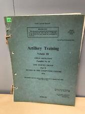 Artillery Training Volume III, Field Artillery Pamphlet No 14, 1971,  (2)