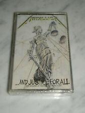 METALLICA AND JUSTICE FOR ALL 9 TRACKS Casette 1988 VERTIGO POLYGRAM BRAND NEW