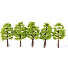 "Light Green Tree Cake Topper Or Train Railroad Scenery Set Of 5 3"" Tall"