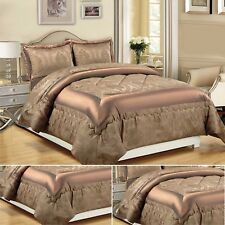 Bedspread With 2 Pillow Shams Bedding Set Throw Quilted Double/King/S.King