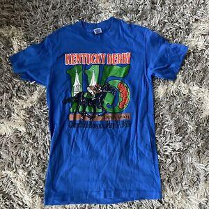 Vintage Kentucky Derby 115 T Shirt Sz Medium Made Usa Single Stitch Fits Small