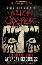 """ALICE COOPER """"SPEND THE NIGHT WITH"""" 2016 PORTLAND CONCERT TOUR POSTER- Hard Rock"""
