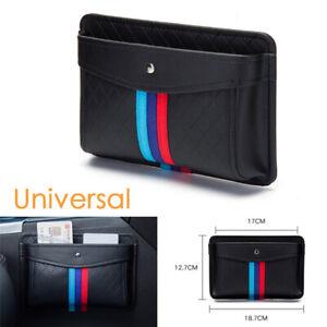 Black PU Leather Car Organizer Pouch Pocket Storage Bag Accessories Auto Stable