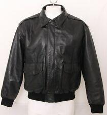 Jacket Flyer's Leather Type A-2 Army Air Force Flight Full-Zip Coat Men's XL