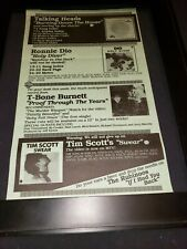 Talking Heads/Dio/T-Bone Burnett Rare Original Radio Promo Poster Ad Framed