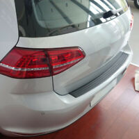 Universal Black Car Rear Bumper Protector Plate Rubber Cover Guard Trim Pad Top