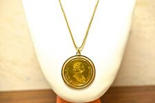 22k Yellow Gold Franc 1915 Pendant 18k Gold Bezel And Chain