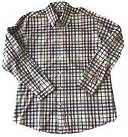 Alex Cannon Sz XL Mens Plaid Button Down Long Sleeve Shirt