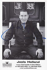 Jools Holland HAND SIGNED 12x8 Photocard, Autograph, Squeeze, Piano