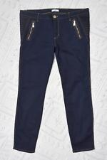 VERSACE COLLECTION Dark Blue Denim Gold Tone Stitch Slim Fit Jeans Sz 35
