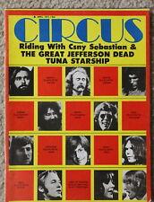 Circus Magazine April 1971 Hot Tuna Jefferson Airplane CSNY, Moody Blues, Savoy