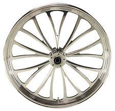 "Manhattan Polished CNC 23"" x 3.5"" Front Dual Disc Wheel for Harley/Custom Models"