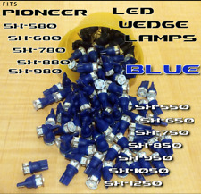 (4) BLUE 8V LED WEDGE LAMP for PIONEER SX750 SX880 SX850 SX950 SX-1050 Receiver