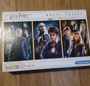 Clementoni - Harry Potter - 3 x 1000 pieces jigsaw multi-puzzle