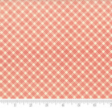 Moda Fabric Snowfall Prints Bias Plaid Natural Poinsettia Red - Per 1/4 Metre
