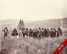 NATIVE AMERICAN SHOSHONE INDIANS OF WYOMING PHOTO ART REAL CANVAS GICLEE PRINT