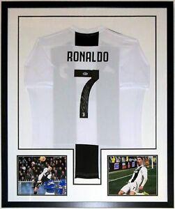 Cristiano Ronaldo Autographed Adidas FC Juventus Jersey Beckett BAS COA Framed