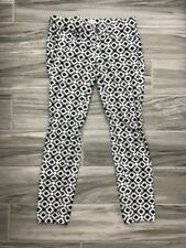 J Crew Toothpick Black White Geometric Kaleidoscope Print Stretch Pants Jeans 24