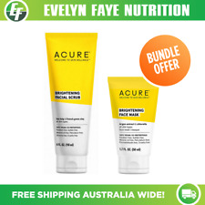 ACURE Brightening Facial Scrub (118ml) & Face Mask (50ml) + FREE SHIPPING