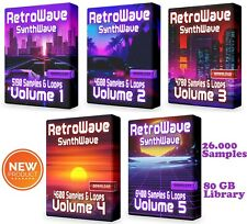RetroWave COMPLETE Super Pack Loops Ableton Cubase Synthwave Retro WAV Samples