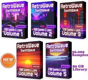RetroWave COMPLETE Super Pack Loops Ableton Cubase Synthwave Retro WAV Samples
