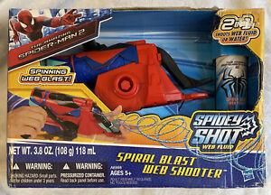 The Amazing Spider-Man 2 SPIRAL BLAST WEB SHOOTER & Web Fluid Htf Rare New