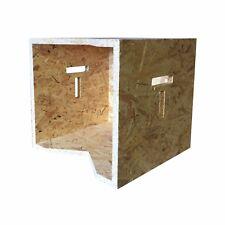 "Record Storage box wood LP 12"" inch vinyl album display holder OSB  T handle"