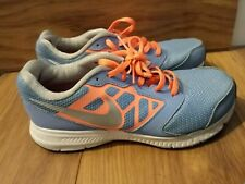 Nike Downshifter Woman's Light Blue/Orange/Pink/Silver size 4 running shoes