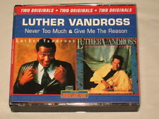 LUTHER VANDROSS - RARE DOUBLE CD - NEVER TOO MUCH/GIVE ME THE REASON