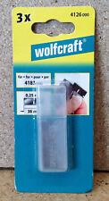 Wolfcraft 3 Ersatzklingen Ersatzmesser f. Schaber Glasschaber 4126000